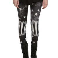 Black Starry Leggings