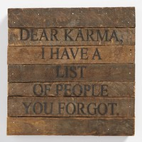 'Dear Karma' Repurposed Wood Wall Art