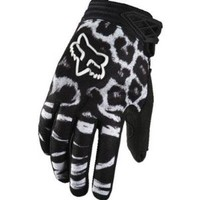 Fox Racing Dirtpaw Youth Girls Dirt Bike Motorcycle Gloves - Black / Large