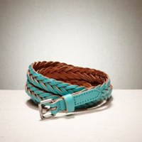 Women's AEO Colorful Braided Leather Belt - American Eagle Outfitters