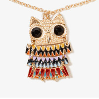 Lacquered Owl Necklace