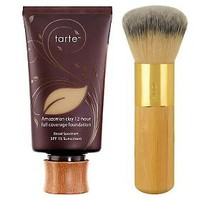tarte Amazonian Clay Full-Coverage Foundation SPF 15 w/Brush — QVC.com