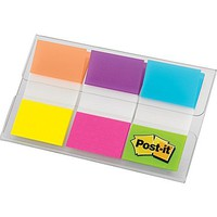 Post-it® 1 Flags, Electric Glow Alternating, 66 Tabs/Pack