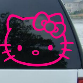 "6"" HELLO KITTY - Cat Feline - Car, Truck, Notebook, Vinyl Decal Sticker"