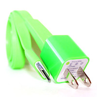 Green iPhone 4/4s Charger - 1m/3ft iPhone 4/4s Cable and Plug