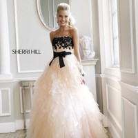 Sherri Hill 4318 Vintage Style Ball Gown Prom Dres