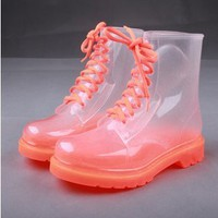 7 Weapons Fashionable Transparent Rain Boots