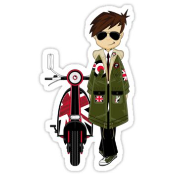 Mod Boy & Retro Scooter