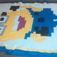 Minion Despicable Me Twin/Full Size Patchwork Quilt