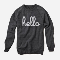 Hello Merch — Hello (Adult) Eco-Black Champ Pullover