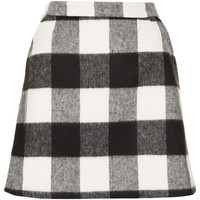 Brush Gingham Aline Skirt