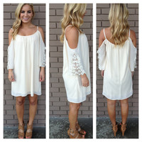 Cream Off Shoulder Bonita Dress
