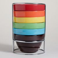 Multi-Color Stacking Bowl, Set of 6