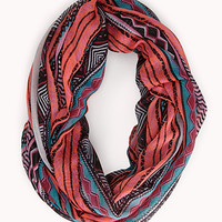 Worldly Striped Infinity Scarf