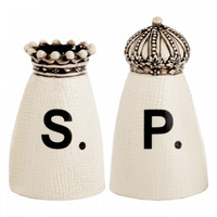 Crown Salt & Pepper Shakers