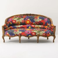 Amelie Sofa, Blazing Poppies - Anthropologie.com