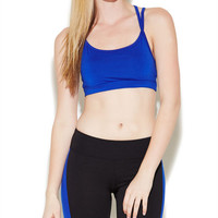 Solid Criss Cross Sports Bra | Wet Seal