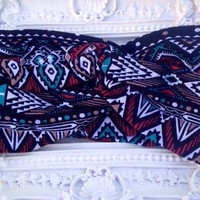 Aztec turban headband