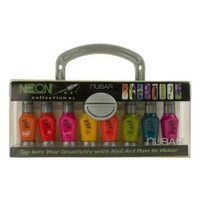Nubar Neon Nail Art Pen & Striper Set