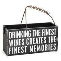 Primitives by Kathy 'Finest Memories' Wine Caddy | Nordstrom