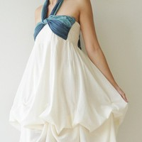 Vary White Cocktail Dress by aftershowershop on Etsy