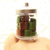 Chocolate Ring Green Tea Chocolate Candy Jar by SouZouCreations