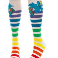 My Little Pony Rainbow Dash Striped Rainbow Knee High Socks