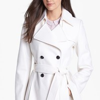 Via Spiga Short Wool Blend Trench Coat (Online Only) | Nordstrom