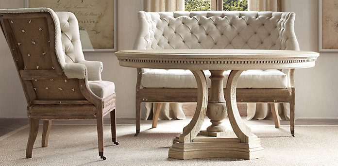 st james round dining table from restoration hardware