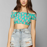 Coincidence & Chance Smocked Cropped Top - Urban Outfitters