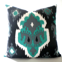 Ikat print pillow cover, Fabric both sides, all sizes available