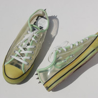 Glow in the Dark Studded Converse Allstars - Hard to Find Rare Chucks - Lo Tops - Rave – Concert