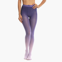 Women's Lilac Ombre Tights (Purple)