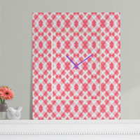 Lisa Argyropoulos Pink Peppermint Twist Rectangular Clock