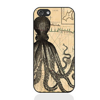 Octopus IPhone 5c case,Octopus IPhone 5s case,vintage Octopus IPhone 5 case,IPhone 4 Case,IPhone 4s case,Silicon iPhone case