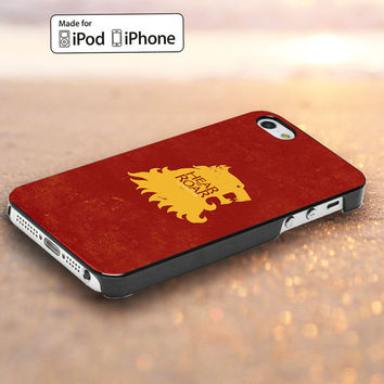 Game Of Thrones - Lannister Hear me Roar Design for iPod Touch 5,iPhone 4/4s,5, 5s, 5c Case, Samsung Galaxy S3, S4 Case