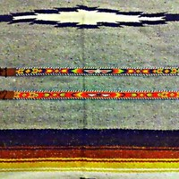 Beaded Indian Native American Navajo Thunderbird Arrow Leather Beaded Belt