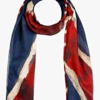 NAVY & RED GOD SAVE MCQUEEN SCARF