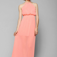 Pins And Needles High-Neck Chiffon Maxi Dress - Urban Outfitters