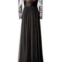 Zuhair Murad - Embellished Lace Bodice Evening Gown