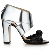 Silver Leather Erica Heels | Bionda Castana | Avenue32