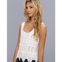 Free People Textured Flower Lace Cami