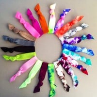 The 20 Assorted Hair Tie Ponytail Holder Collection by Elastic Hair Bandz
