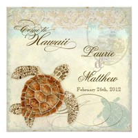 Hawaii Sea Turtle Modern Coastal Ocean Beach