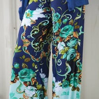 Mint Garden Party Palazzo Pants