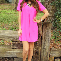 Steal My Kisses Dress: Hot Pink