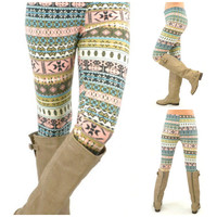 St.Augustine Pastel Fair Isle Leggings