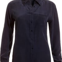 Blueberry Silk Blouse