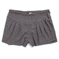 LA Hearts Black White Challis Shorts at PacSun.com