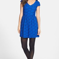Socialite Ruffled Skater Dress (Juniors) | Nordstrom